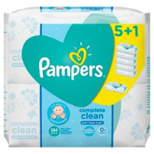 Pampers Fresh Clean Baby Wipes 6 Pack 384 Wipes