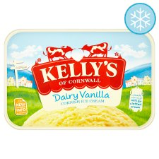Kelly's Vanilla Cornish Dairy Ice Cream 1 Litre