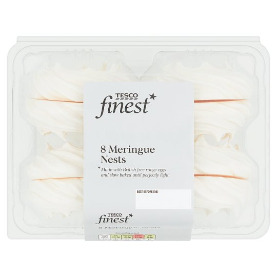 Tesco Finest Meringue Nests 8S