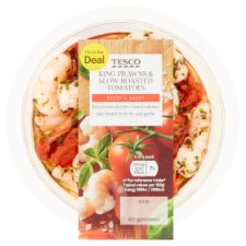 Tesco King Prawns With Marinated Tomatoes 145G