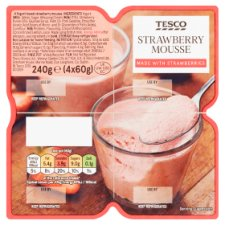 Tesco Strawberry Mousse 240G (4X60g)