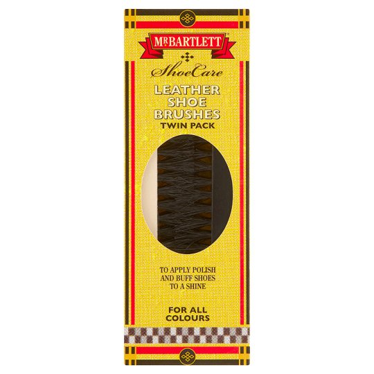 Mr Bartlett Leather Shoe Brushes Twin Pack