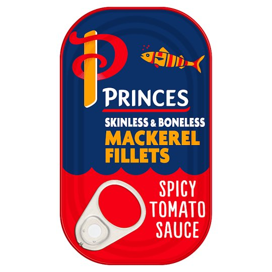 Princes Mackerel Fillets In Spicy Tomato Sauce 125G