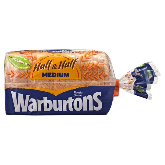 Warburtons Half And Half Medium Bread 750G