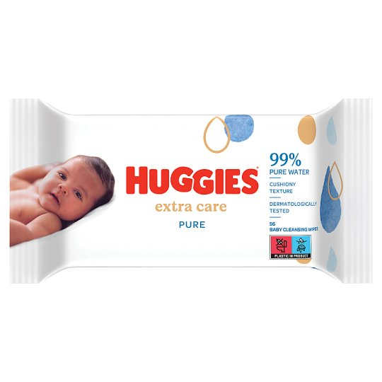 Huggies Baby Wipes Pure Extra Care 56 Pack