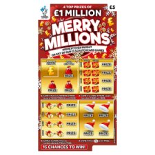 Merry Millions Scratchcard