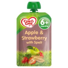 Cow & Gate Apple And Strawberry Spelt Fruit Pouch 100G