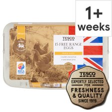 Tesco Mixed Sized Free Range Eggs 15 Pack