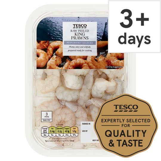 Tesco Raw King Prawns 165G