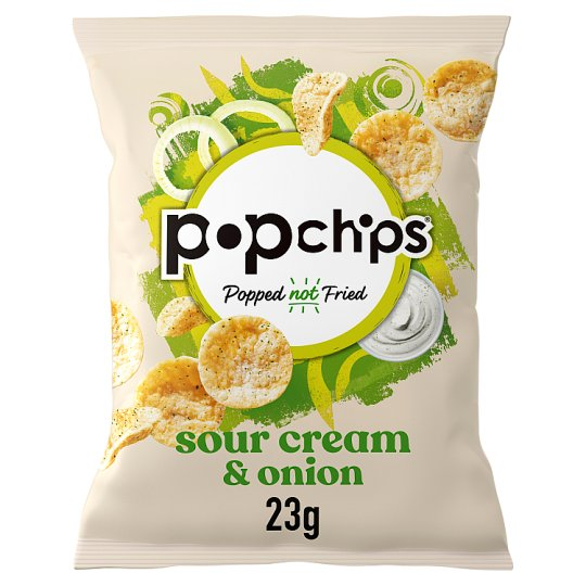 Popchips Sour Cream And Onion Potato Chips 23G