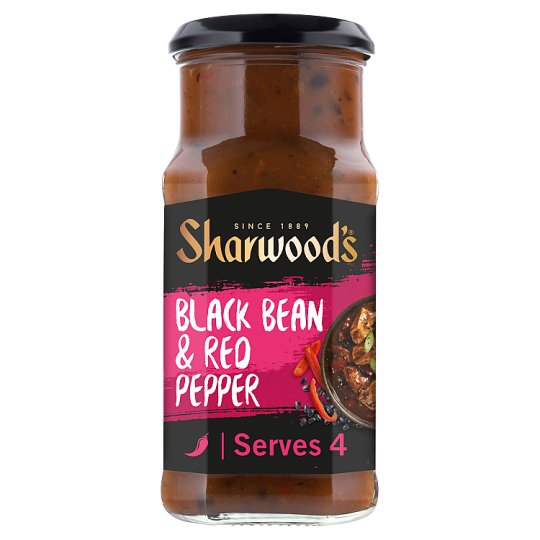 Sharwoods Sauce Cantonese Blackbean Red Pepper 425G