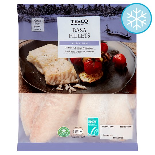 Tesco Basa Fillets 500G