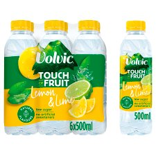 Volvic Touch Of Fruit Lemon And Lime 6X500ml