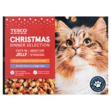 Tesco Christmas Dinner Selection For Cats 12 X 100G