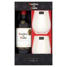 Red Wine And Stemless Glasses Gift Set