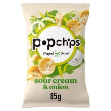Popchips Sour Cream & Onion Chips 85G