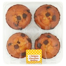 Belgian Chocolate Chip Muffins 4 Pack