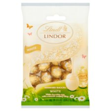 Lindt Lindor White Milk Chocolate Eggs 100G