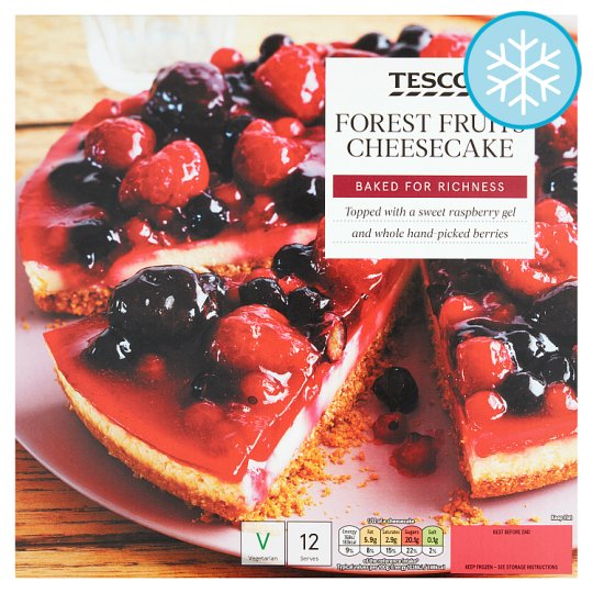 Tesco Forest Fruits Cheesecake 890G