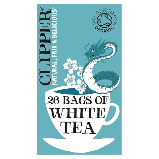 Clipper Organic White Tea 26'S 45G