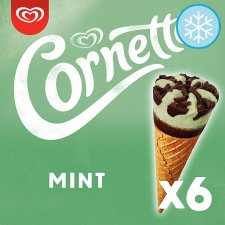 Cornetto Mint Ice Cream Cones 6 X 90Ml