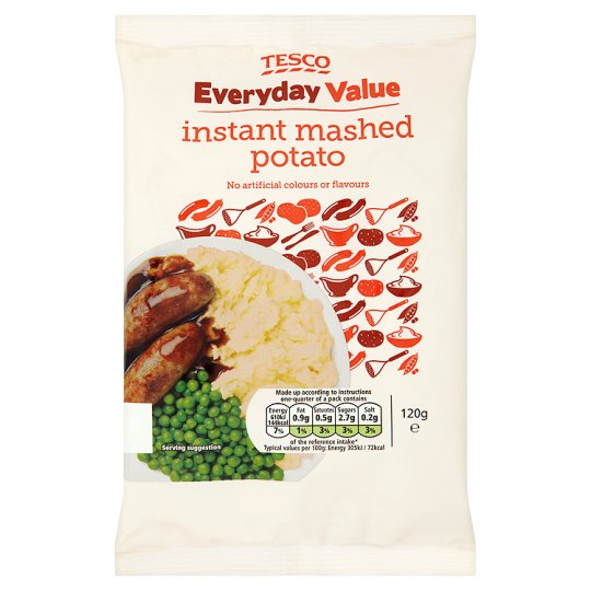 Tesco Everyday Value Instant Mashed Potatoe 120G