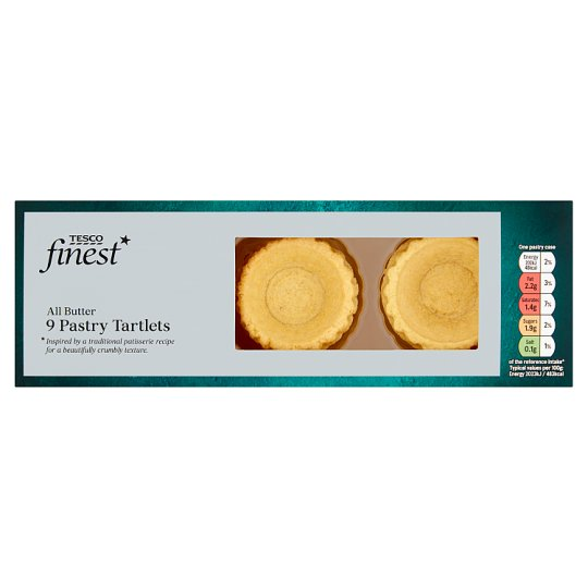Tesco Finest All Buttermini Tartlets 9S 90G