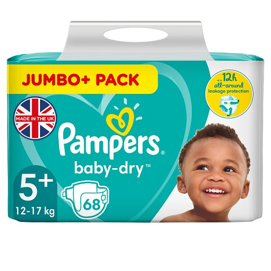 image 1 of Pampers Baby Dry Size 5+ Jumbo+ Pack 68 Nappies