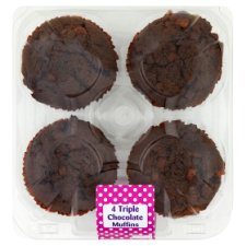 Triple Chocolate Muffins 4 Pack