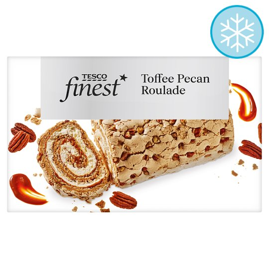Tesco Finest Toffee And Pecan Roulade 420G