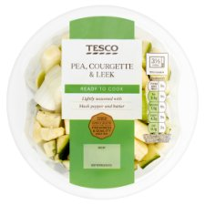 Tesco Courgette Leek And Peas Layered Vegetable 335G