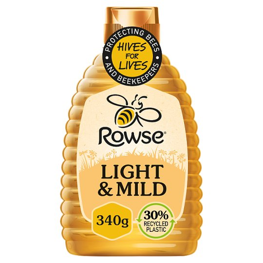 Rowse Squeezy Light And Mild Honey 340G