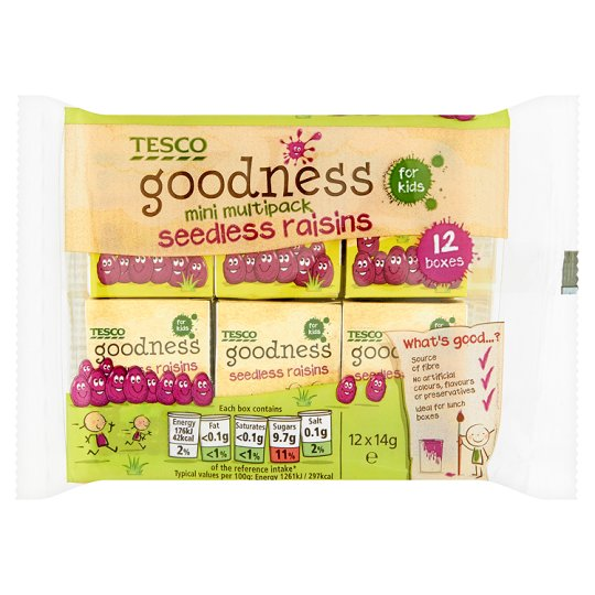 Tesco Goodness Raisins 168G