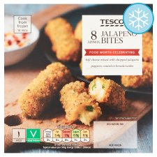 Tesco 8 Cream Cheese Jalapeno Bites 160G