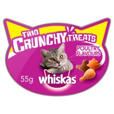 Whiskas Trio Cat Treats Crunchy Poultry 55G