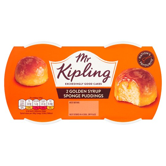 Mr. Kipling Golden Syrup Sponge Pudding 2X95g