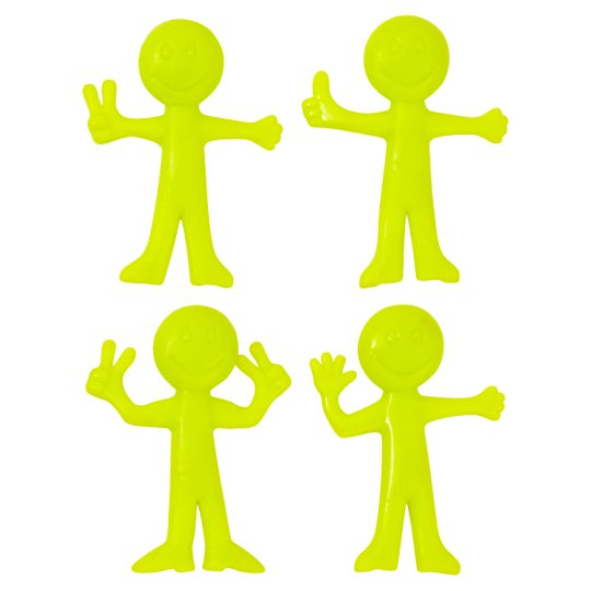 Tesco Stretchy Figure - 4 Pack