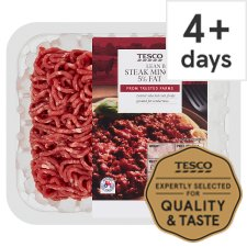 Tesco Lean Beef Steak Mince 5% Fat 250G