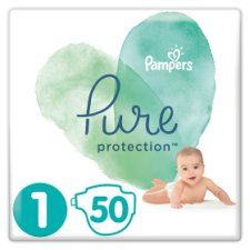 Pampers Pure Protection Sz1 50 Nappies