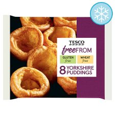 Tesco Free From 8 Yorkshire Puddings 124G