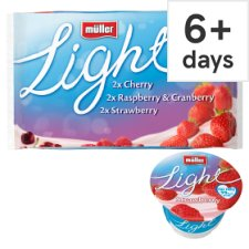 Muller Light Mixed Red Fruits Yogurt 6 X175g