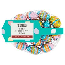 Tesco Milk Chocolate Eggs 85G