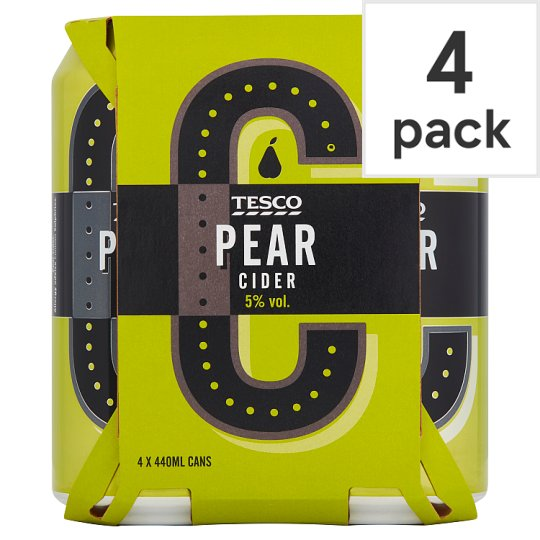 Tesco Pear Cider 4X440ml Can
