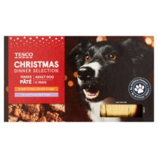 Tesco Christmas Dog Dinner Selection 6X150g