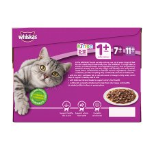 image 3 of Whiskas 1+ Cat Food Pouches Mixed Variety in Gravy 12x100g