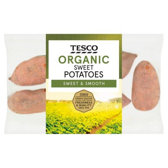 Tesco Organic Sweet Potatoes 750G