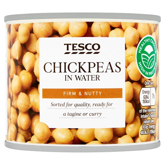 Tesco Chickpeas In Water 210G
