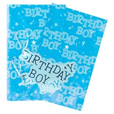 Tesco Happy Birthday Boy 2 Sheets 2 Tags