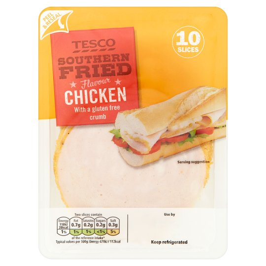 Tesco Southern Fried Chicken 125G