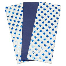 Tesco Midnight Blue Stars Tissue 3 Sheets